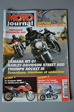 MOTO JOURNAL 1656 YAMAHA MT-01 TRIUMPH Rocket 3 HARLEY DAVIDSON 1130 MV AGUSTA