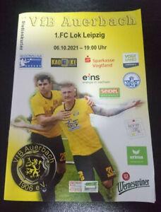 06.10.21 VfB Auerbach - Lok Leipzig Regionalliga Nordost Programm