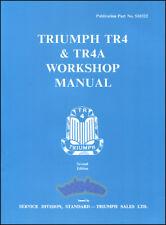 SHOP MANUAL TRIUMPH TR4 SERVICE REPAIR BOOK TR4A WORKSHOP RESTORATION