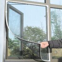 Schwarz Fliegengitter Insektenschutz Fenster Gaze 130x150cm DIY Kleber SOMMER