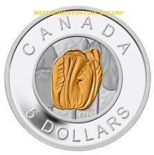 2014 $5 FINE SILVER COIN FLOWERS IN CANADA - TULIP
