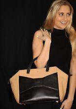 Kate Spade LARGE 2 Park Avenue Beau Bag MACCHIATO TAN BLACK HANDBAG TOTE BOW