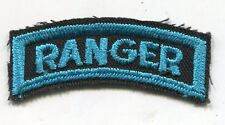 U.S. ARMY RANGER TAB CUT EDGE BLUE ON BLACK