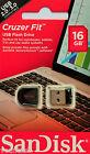 Sandisk Cruzer Fit 16GB USB Flash Drive 16GB USB Stick SDCZ33-016G-B35 NEU&OVP