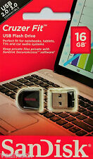 Sandisk Cruzer Fit 16GB USB Flash Drive 16GB USB Stick SDCZ33-016G-B35 NEU&OVP