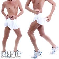NEW Mens LARGE VIGA WHITE Split Leg PACER Running Shorts Gym Sprinter RUN.462
