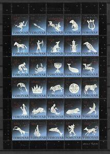 Faroe Islands - Christmas Seals 2001 - Full Sheet - VF MNH ** !!!!!  (A3647)