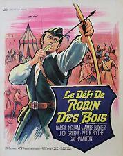 """""""LE DEFI DE ROBIN DES BOIS (A CHALLENGE FOR ROBIN HOOD)"""" Affiche orig. entoilée"""