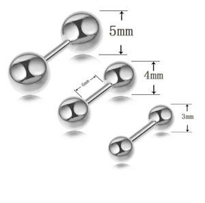 50PCS Ball Labret Lip Chin Ring Monroe Ear Helix Tragus  Bars 16g Piercing