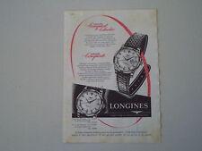 advertising Pubblicità 1957 OROLOGIO LONGINES CONQUEST