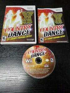 Country Dance 25+ Chart Topping Hits (Nintendo Wii, 2011) Complete W/Manual