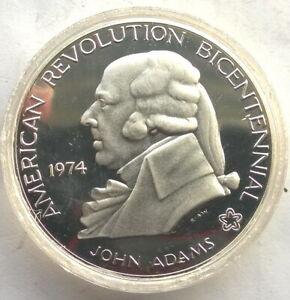 United States 1974 John Adams 1oz Silver Medal,Proof