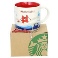 Starbucks San Francisco You Are Here Coffee Mug YAH, Golden Gate Bridge Keychain