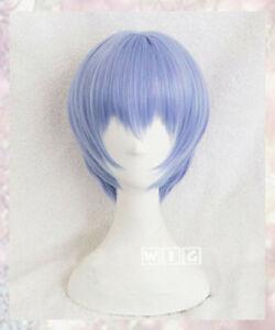 For Cosplay NEON GENESIS EVANGELION EVA Ayanami Rei Wigs Light Blue Cosplay Wig