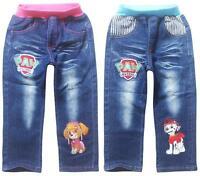 Kids Costume Toddler Boys Girls PAW PATROL Trousers Cartoon Jeans Pants 3-9Years