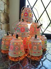 VTG LAWNWARE String LIGHTS 11 Beaded Flower Pots Lighting Retro RV Camper Patio