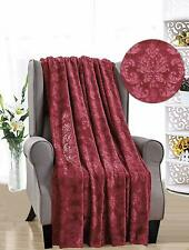 French Collection Luxurious Soft Throw Blanket Cover Embossed Versailles Pattern
