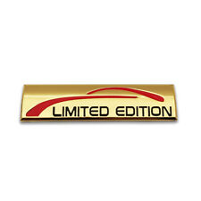Gold Limited Edition Logo Emblem Car Badge Auto Metal Sticker Racing Sport Decal