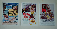 ROCK N ROLL ROCKABILLY  MOVIE POSTERS JOB LOT SET 10 COLOUR 6 X 4 GLOSSY CARDS