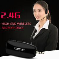 Wireless 2.4GHZ Microphone Speech Headset Megaphone Radio Mic For Loudspeaker