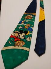 Disney Green & Blue Mickey Donald & Goofy Football Necktie Men'S Clothes