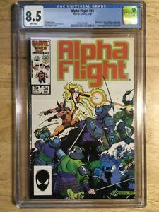 Alpha Flight #34 CGC 8.5 (VF+) Wolverine - Lady Deathstrike Appearances