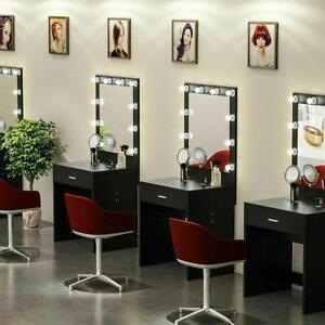 Makeup Vanity Dressing Table Set Dresser Desk with 10 Led Light Hollywood Mirror