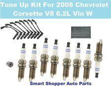 2008 Chevrolet Corvette V8 Vin W Spark plug, Wire Set, Cabin Air Filter, Oil Fil