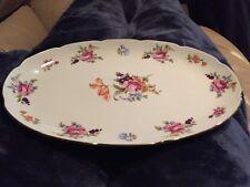 J. L. Menau Graf Von Henneburg Gold Trim Porcelain Serving Oval Platter
