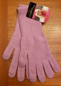 NEW Cuddl Duds Girl SIZE 7-14 Long Length Plushfill Gloves PURPLE SPARKLE #32119