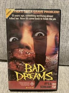 Bad Dreams VHS 1988 Slasher/Horror Andrew Fleming CBS FOX Video (Ex-Rental)