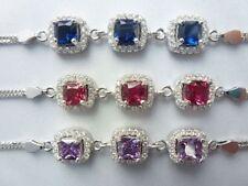 Simulated Sapphire Fine Bracelets