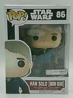 Funko Pop Star Wars Han Solo Snow Gear #86 Lootcrate w/ Protector Shelf Wear