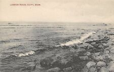 Egypt Massachusetts~Tide Coming In @ Lobster Rocks~B&W Litho 1920s? Red Font