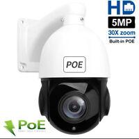 30X Zoom 5.0MP PTZ PoE IP Security Camera Outdoor Speed CCTV IR Night Vision