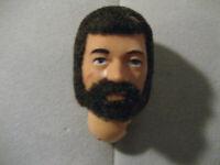 Vintage GI Joe Brunette Brown Hair Head for Commander Flocked Fuzzy HEAD
