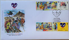Malaysia FDC with stamps (15.09.2015) - One Heart, One Soul