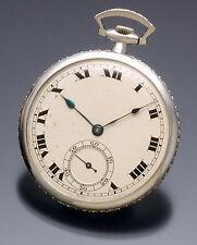 HAAS POCKET WATCH  DECO PLATINUM DIAMOND 2.5 CTS CA1910