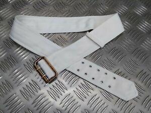 Original Britischer Militär Weiß Kleid Uniform Jacke Tuch Gürtel Rn RAF Army