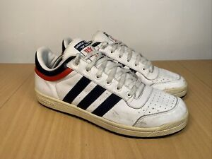 Adidas Top Ten 668580 Rare Men's Low Top White Blue Red Trainers Size UK 10