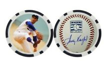 SANDY KOUFAX / LOS ANGELES DODGERS  - POKER CHIP - BALL MARKER ***SIGNED***