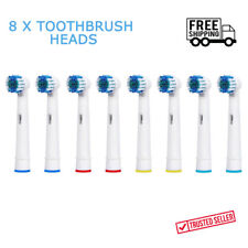 8 x Braun Oral B Vitality Precision Electric Replacement Tooth brush Heads NEW