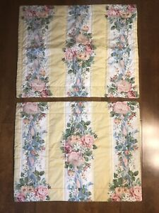 Croscill Home Fashions Pillow Shams Country Floral Quilted Set 2 pc Cottage Chic