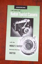 Kodak Tourist 800 Sales Brochure A3-255 8-49, Six Page/cks/196866