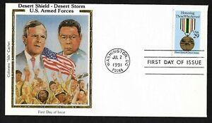 #2551 29c Desert Shield-Desert Storm-G.H.W. Bush & Colin Powell- Colorano FDC
