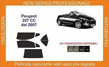 pellicola oscurante vetri pre tagliata peugeot 207 cc dal 2007 in poi
