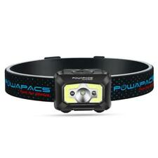 Ultralite Head torch. 450Lm 5 modes +Sensor, White, Green and Red USB recharge
