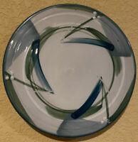 """Studio Pottery Trivet Tile Wall Plaque Ellen Spiller Boulder Colorado 8"""" Teal"""