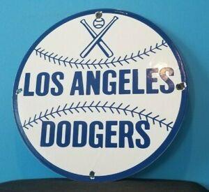 VINTAGE DODGERS PORCELAIN LOS ANGELES MAJOR LEAGUE BASEBALL FIELD STADIUM SIGN
