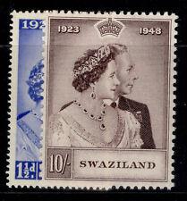 More details for swaziland gvi sg46-47, royal silver wedding set, m mint. cat £40.